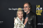 "Michelle Phillips and Jackson Browne attend the 2018 LA Film Festival - Opening Night Premiere Of ""Echo In The Canyon"" at John Anson Ford Amphitheatre on September 20, 2018 in Hollywood, California."