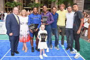 David Shenman, Becky Hubbard, Serena Williams, Venus Williams, Rafael Nadal, Alexander Zverev, Mischa Zverev and Nick Kyrgios attend 2018 Lotte New York Palace Invitational on August 23, 2018 in New York City.