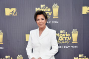 Kris Jenner attends the 2018 MTV Movie And TV Awards at Barker Hangar on June 16, 2018 in Santa Monica, California.