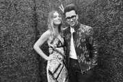 Image has been converted to black and white.) Actors Annie Murphy (L) and Dan Levy attend the 2018 MTV Movie And TV Awards at Barker Hangar on June 16, 2018 in Santa Monica, California.