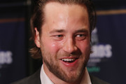 Victor Hedman of the Tampa Bay Lightning speaks with the media during the 2018 NHL Awards nominee media availability at the Encore Las Vegas on June 19, 2018 in Las Vegas, Nevada.