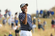 Bubba Watson of the United States reacts during the afternoon foursome matches of the 2018 Ryder Cup at Le Golf National on September 28, 2018 in Paris, France.