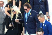 Phil Mickelson of the United States and wife Amy Mickelson depart the opening ceremony for the 2018 Ryder Cup at Le Golf National on September 27, 2018 in Paris, France.