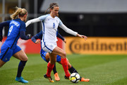 Jill Scott #8 of England controls the ball against France on March 1, 2018 at MAPFRE Stadium in Columbus, Ohio. England defeated France 4-1.