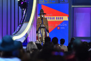Erykah Badu accepts the  Legend award onstage during the 2018 Soul Train Awards at the Orleans Arena on November 17, 2018 in Las Vegas, Nevada.