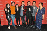 (L-R) Shoshannah Stern, Paul Young, Mary Pat Bentel, Josh Feldman, Colt Prattes, Andrew Ahn and Winnie Kemp attend the Indie Episodic Program 2 during the 2018 Sundance Film Festival at Park Avenue Theater on January 23, 2018 in Park City, Utah.