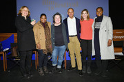 (L-R) Megan Smith, Octavia Spencer, Christine Vachon, Patrick Gaspard, Sarah Ellison and Issa Rae pose onstage at the Power Of Story Panel: Culture Shift during the 2018 Sundance Film Festival at Egyptian Theatre on January 19, 2018 in Park City, Utah.