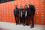 """(L-R) Irrfan Khan, Austin Abrams, Kelly Macdonald, Bubba Weiler, and David Denman attend the """"Puzzle"""" Premiere at Eccles Center Theatre during the 2018 Sundance Film Festival on January 23, 2018 in Park City, Utah."""