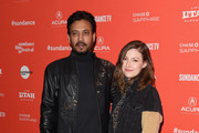 """Actors Irrfan Khan and Kelly Macdonald attend the """"Puzzle"""" Premiere at Eccles Center Theatre during the 2018 Sundance Film Festival on January 23, 2018 in Park City, Utah."""