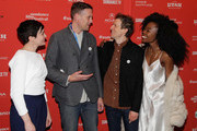 "Actors Tracy Hazas and Nico Evers-Swindell and director Daryl Wein and actor Nana Ghana attend the ""White Rabbit"" and ""Lazercism"" Premieres during the 2018 Sundance Film Festival at Park Avenue Theater on January 19, 2018 in Park City, Utah."