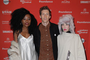 "(L-R) Actors Nana Ghana, director Daryl Wein and actor Vivian Bang attend the ""White Rabbit"" and ""Lazercism"" Premieres during the 2018 Sundance Film Festival at Park Avenue Theater on January 19, 2018 in Park City, Utah."