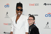Comedian Leslie Jones and fashion designer Christian Siriano attend the 2018 Time 100 Gala at Jazz at Lincoln Center on April 24, 2018 in New York City.