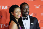 Actors Susan Kelechi Watson and Sterling K Brown attend the 2018 Time 100 Gala at Jazz at Lincoln Center on April 24, 2018 in New York City.
