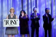Heather Hitchens speaks onstage during the 2018 Tony Awards Nominations Announcement at The New York Public Library for the Performing Arts on May 1, 2018 in New York City.