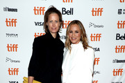"Allison Black (L) and Maria Bello attend the ""Giant Little Ones"" premiere during 2018 Toronto International Film Festival at The Elgin on September 9, 2018 in Toronto, Canada."