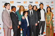 "(L-R)  Ryder McLaughlin, Na-kel Smith, Olan Prenatt, Sunny Suljic, Jonah Hill, Gio Galicia, Ken Kao and Alexa Demie attend the ""Mid90s"" premiere during 2018 Toronto International Film Festival at Ryerson Theatre on September 9, 2018 in Toronto, Canada."