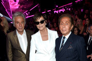 (L-R) Giancarlo Giammetti, Kris Jenner, and Valentino attend the 2018 Victoria's Secret Fashion Show in New York at Pier 94 on November 8, 2018 in New York City.