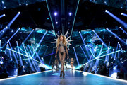 Romee Strijd walks the runway during the 2018 Victoria's Secret Fashion Show at Pier 94 on November 8, 2018 in New York City.