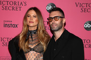 Behati Prinsloo and Adam Levine attends the 2018 Victoria's Secret Fashion Show After Party on November 8, 2018 in New York City.