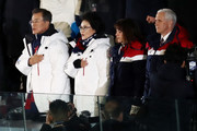 U.S. Vice President Mike Pence and South Korea president, Moon Jae-in during the Opening Ceremony of the PyeongChang 2018 Winter Olympic Games at PyeongChang Olympic Stadium on February 9, 2018 in Pyeongchang-gun, South Korea.