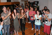 Producer Ross Copperman,Singer-songwriter Joy Williams and Tenille Townes join ACM Lifting Lives Music Campers on Music Camp Recording Studio Day on June 17, 2019 in Nashville, Tennessee.