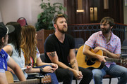 Producer Ross Copperman,Songwriter Joy Williams, Hillary Scott, Charles Kelley and Dave Haywood of Lady Antebellum join ACM Lifting Lives campers during ACM Lifting Lives Music Camp Songwriting Workshop on June 13, 2019 in Nashville, Tennessee.