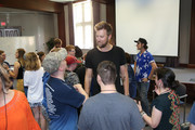 Charles Kelley of Lady Antebellum joins ACM Lifting Lives campers during ACM Lifting Lives Music Camp Songwriting Workshop on June 13, 2019 in Nashville, Tennessee.