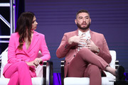 Shoshannah Stern and Josh Feldman of 'This Close' speak onstage during the AMC Networks portion of the Summer 2019 TCA Press Tour on July 25, 2019 in Los Angeles, California.