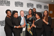 (L-R) Alfreda McCrary, Regina McCrary of The McCrary Sisters, Delbert McClinton, Tanya Blount and Michael Trotter Jr. of The War and Treaty Ann McCrary and Deborah McCrary of The McCrary Sisters  seen backstage during the 2019 Americana Honors & Awards at Ryman Auditorium on September 11, 2019 in Nashville, Tennessee.