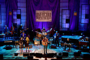(L-R) Lori McKenna, Abby Sevigny and Ruston Kelly perform onstage during the 2019 Americana Honors & Awards at Ryman Auditorium on September 11, 2019 in Nashville, Tennessee.