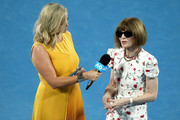 Anna Wintour is interview at the Women's Day Ceremony during day 11 of the 2019 Australian Open at Melbourne Park on January 24, 2019 in Melbourne, Australia.