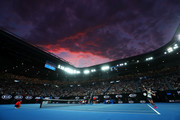 A general view inside Rod Laver Arena during the Women's Singles Final match between Naomi Osaka of Japan and Petra Kvitova of Czech Republic during day 13 of the 2019 Australian Open at Melbourne Park on January 26, 2019 in Melbourne, Australia.