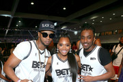 (L-R) Papoose, Yandy Smith and LouGotCash play in the BETX Celebrity Basketball Game Sponsored By Sprite during the BET Experience at Los Angeles Convention Center on June 22, 2019 in Los Angeles, California.