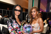 (L-R) Draya Michele and Meagan Good backstage at the BETX Celebrity Basketball Game Sponsored By Sprite during the BET Experience at Los Angeles Convention Center on June 22, 2019 in Los Angeles, California.