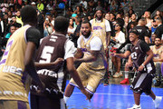 The Game (C) plays in the BETX Celebrity Basketball Game Sponsored By Sprite during the BET Experience at Los Angeles Convention Center on June 22, 2019 in Los Angeles, California.