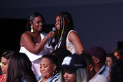 An attendee asks a question at Generation Genius: From Blackish to Grownish at Genius Talks Sponsored By Credit Karma during the BET Experience at the Los Angeles Convention Center on June 22, 2019 in Los Angeles, California.