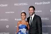 Jordana Brewster and Andrew Form attend the 2019 Baby2Baby Gala presented by Paul Mitchell on November 09, 2019 in Los Angeles, California.