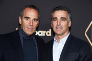 Monte Lipman (L) and Avery Lipman arrive at the 2019 Billboard Power 100 event at Avra Beverly Hills Estiatorio on February 07, 2019 in Beverly Hills, California.