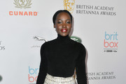Lupita Nyong'o attends the 2019 British Academy Britannia Awards presented by American Airlines and Jaguar Land Rover at The Beverly Hilton Hotel on October 25, 2019 in Beverly Hills, California.