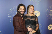 (L-R) Honoree Thomas Rhett and Lauren Akins attend the 2019 CMT Artists of the Year at Schermerhorn Symphony Center on October 16, 2019 in Nashville, Tennessee.