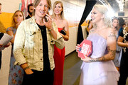 Keith Urban and Julia Michaels attend the 2019 CMT Music Awards - Backstage & Audience at Bridgestone Arena on June 05, 2019 in Nashville, Tennessee.