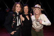 (L-R) Brandi Carlile, Leslie Fram and Tanya Tucker attend the 2019 CMT Next Women Of Country Celebration at CMA Theater at the Country Music Hall of Fame and Museum on November 12, 2019 in Nashville, Tennessee.