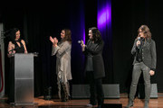 (L-R) Leslie Fram, Martina McBride, Brandy Clark and Tracy Gershon seen onstage during the 2019 CMT Next Women Of Country at CMA Theater at the Country Music Hall of Fame and Museum on November 12, 2019 in Nashville, Tennessee.