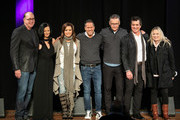 (L-R) John Esposito, Leslie Fram, Martina McBride, Jon Loba, Randy Goodman, Scott Borchetta and Cindy Mabe take photos onstage during the 2019 CMT Next Women Of Country at CMA Theater at the Country Music Hall of Fame and Museum on November 12, 2019 in Nashville, Tennessee.