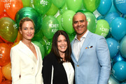 Model Carolyn Murphy, co-founder of Cookies for Kids' Cancer Gretchen Witt and Chris Jackson attend the 2019 Chefs For Kids' Cancer at Metropolitan Pavilion Metro West  on March 12, 2019 in New York City.
