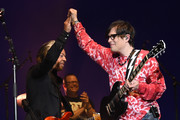 Roland Orzabal of Tears For Fears and Patrick Wilson and Rivers Cuomo of Weezer perform at Coachella Stage during the 2019 Coachella Valley Music And Arts Festival on April 13, 2019 in Indio, California.