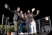 Patrick Wilson, Scott Shriner, Rivers Cuomo and Brian Bell of Weezer perform at Coachella Stage during the 2019 Coachella Valley Music And Arts Festival on April 13, 2019 in Indio, California.