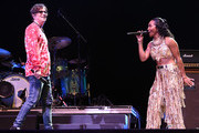 Rivers Cuomo of Weezer and Rozonda 'Chilli' Thomas of TLC perform at Coachella Stage during the 2019 Coachella Valley Music And Arts Festival on April 13, 2019 in Indio, California.
