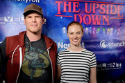 (L-R) E.J. Scott and Deborah Ann Woll attend The Upside Down: A Stranger Party presented by Nerdist at Fluxx Nightclub on July 18, 2019 in San Diego, California.