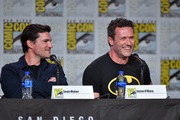 Sean Maher and Jason O'Mara speak during the World Premiere Of 'Batman: Hush' during 2019 Comic-Con International at San Diego Convention Center on July 19, 2019 in San Diego, California.